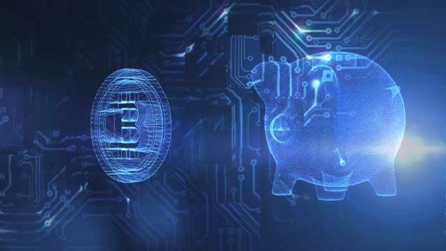 Blockchain bitcoin pig bank