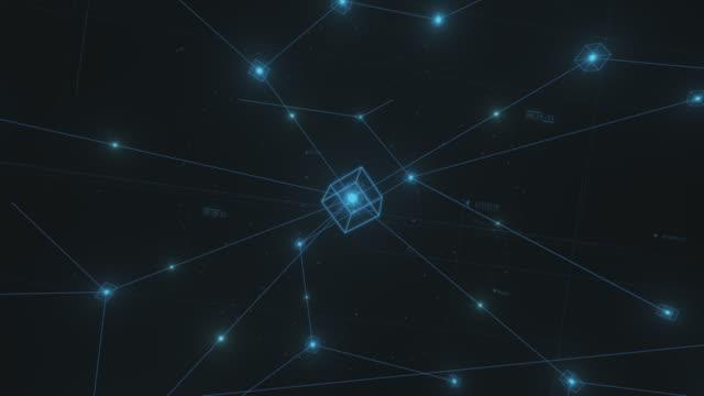 Blockchain Data Network stock video Blockchain, Futuristic, Technology, Finance
