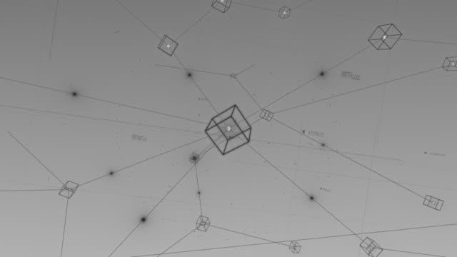blockchain data network stock video blockchain, futuristic, technology, finance - a forma di blocco video stock e b–roll