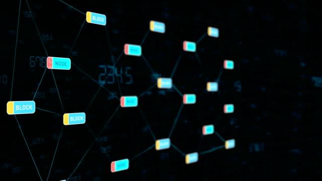 blockchain technology data transfer - криптовалюта стоковые видео и кадры b-roll