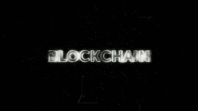 Blockchain word animation – film