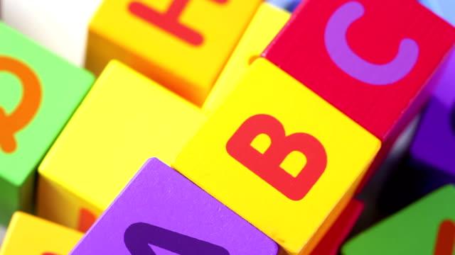 ABC Blocks - close up video