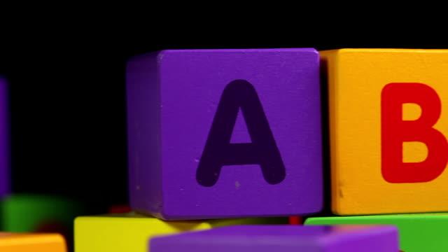 ABC Blocks - close up ABC Blocks alphabet stock videos & royalty-free footage