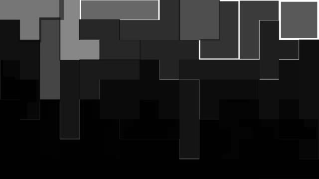 blocky transitions - a forma di blocco video stock e b–roll