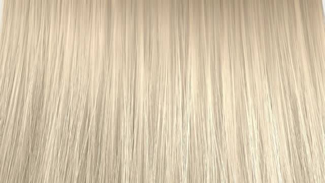 Blonde Hair Animation An abstract view of a bunch of blonde hair blowing in the wind on an isolated white background human hair stock videos & royalty-free footage