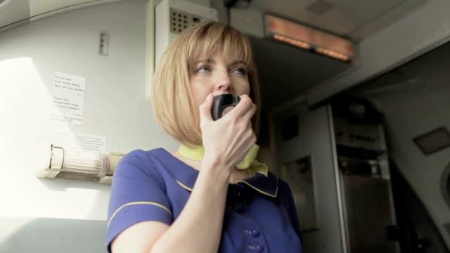 Image result for stewardess speaks o passengers