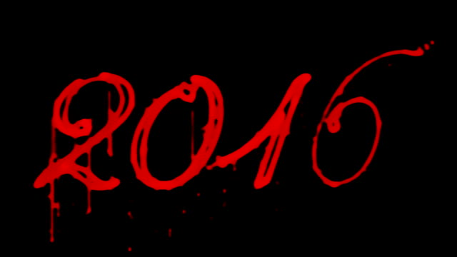 Blood 2016, Horror New Year, against black video
