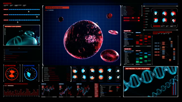 Blood cells.Human cardiovascular system, Digital user interface. 4k, 2. Flowing Blood cells.Human cardiovascular system, Futuristic medical application. Digital user interface. 4k animation blood clot stock videos & royalty-free footage