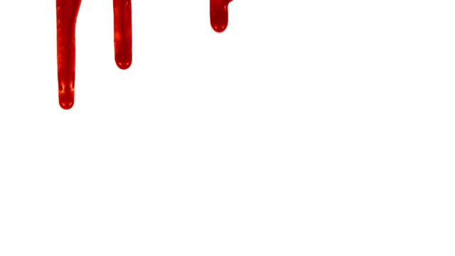 Blood Dripping 1 Available in HD, NTSC, and PAL. Part of a series. Blood dripping down over a white background drop stock videos & royalty-free footage
