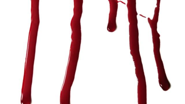 vidéos et rushes de gouttes de sang - sang