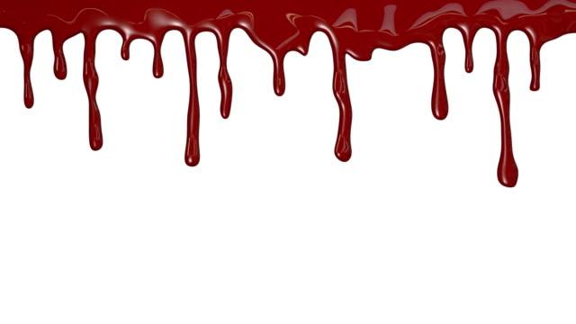 krew jednostajnym obrazie - kropla filmów i materiałów b-roll