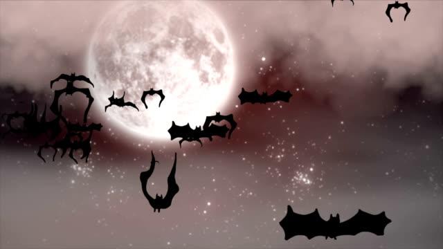 Blood moon at Halloween video
