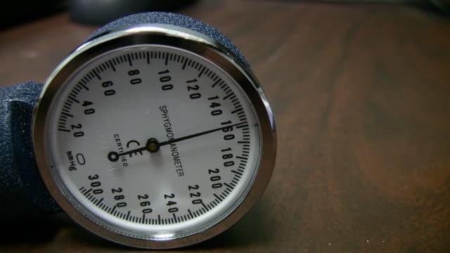 Blood Pressure Guage HD Blood pressure guage rising. blood pressure gauge stock videos & royalty-free footage