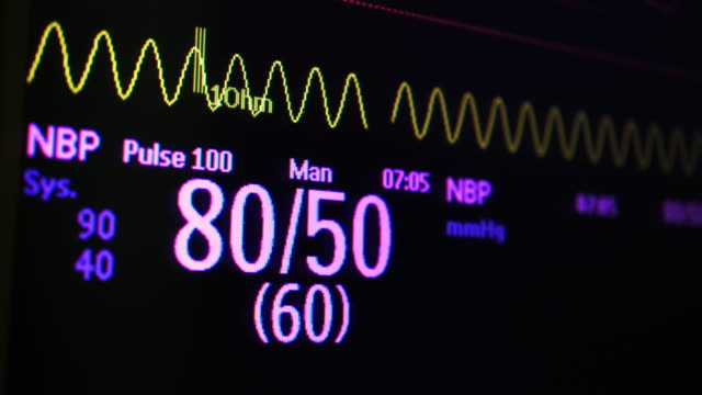Blood pressure monitor Measuring Patient Blood pressure monitor. blood pressure gauge stock videos & royalty-free footage