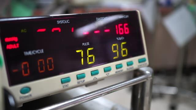 Blood Pressure Measuring Patient Blood pressure monitor. blood pressure gauge stock videos & royalty-free footage