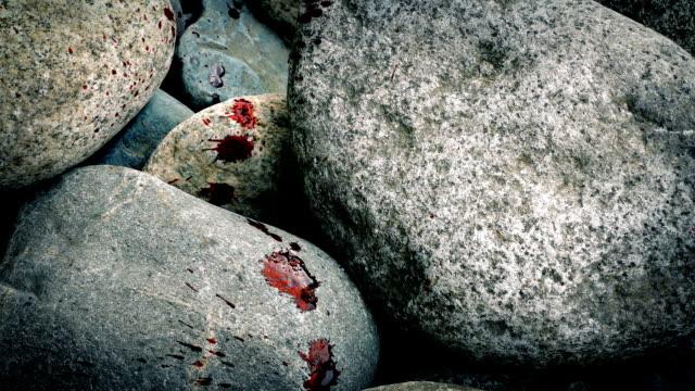 Blood Spatters Across Rocks video