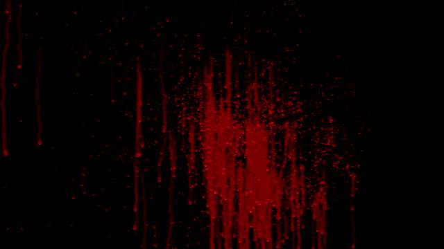 sangue splat animazione con opaco - schizzare video stock e b–roll