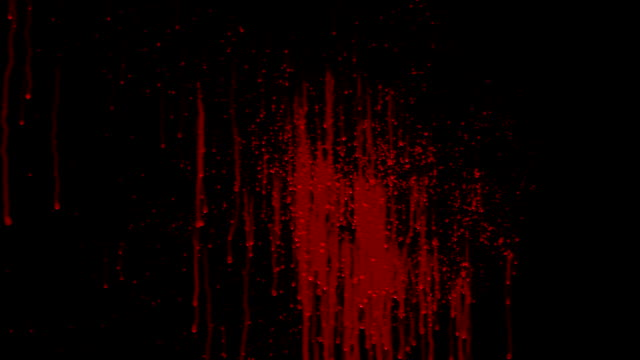 stockvideo's en b-roll-footage met blood splat animation complete with matte - bespatterd