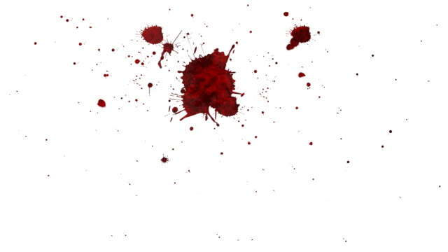 stockvideo's en b-roll-footage met blood splatter and drip - bespatterd