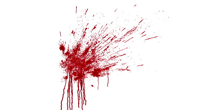 blood splatter animation with matte video