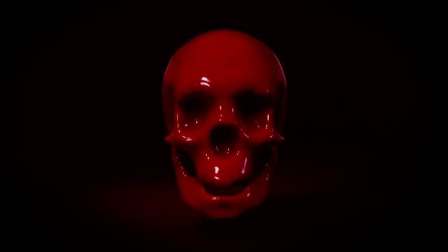 blood transform to skull Halloween video