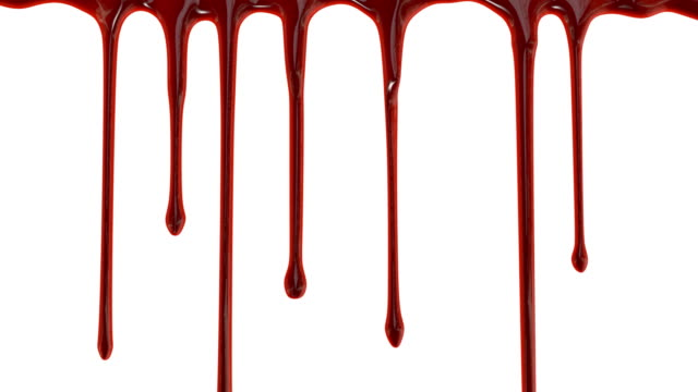 Blood Blood dripping down over white background drop stock videos & royalty-free footage