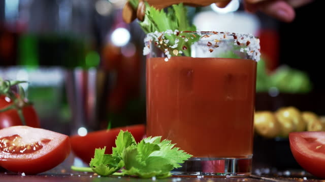 Bloody Mary cocktail video