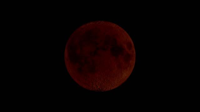 bloody moon - mondfinsternis - mond stock-videos und b-roll-filmmaterial