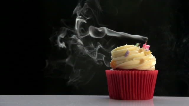 Blow Candle On Cup Cake Slow video