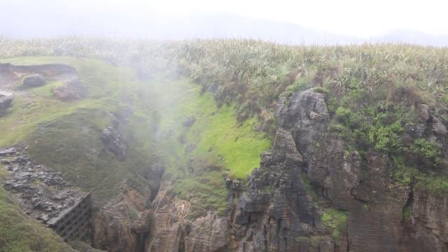 Blowhole Paparoa National Park, New Zealand oceania stock videos & royalty-free footage