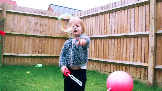 Blowing bubbles video