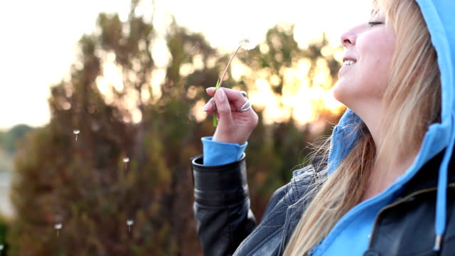 Blowing on a dandelion video