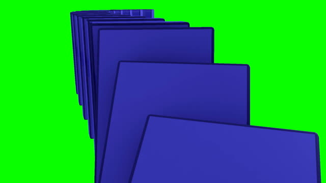 Blue 3d dominos falling against a green background Blue 3d dominos falling against a green background part of stock videos & royalty-free footage