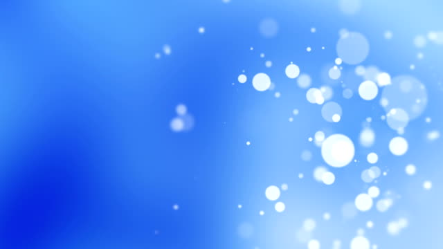 Blue Abstract Background With Bokeh Circles video