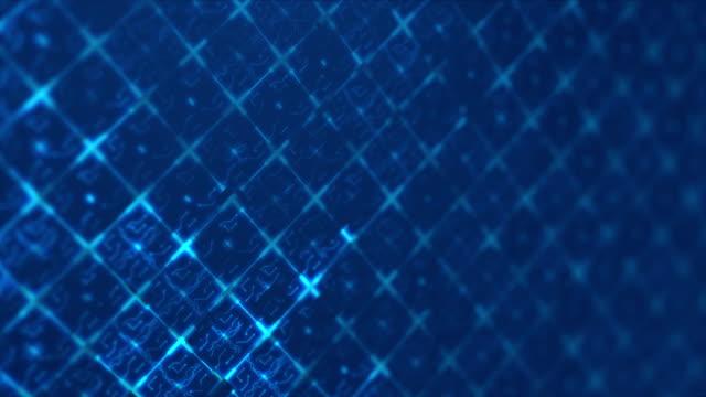 vídeos de stock e filmes b-roll de blue abstract digital techno circuit. seamless loop animation of technology background. - padrão repetido