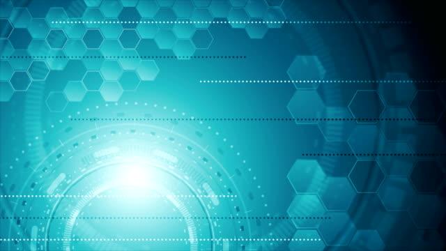 青い抽象産業技術ビデオ アニメーション - 機械部品点の映像素材/bロール