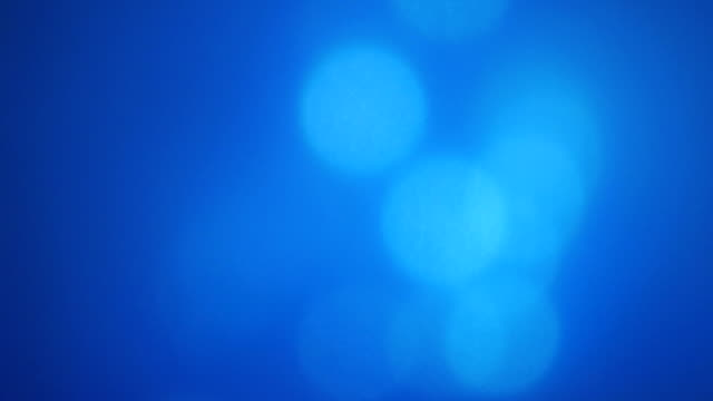 Blue Abstract Lights bokeh background. video