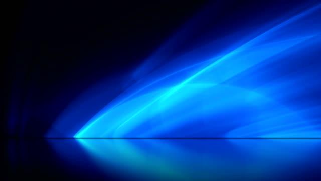 blue abstract motion background lighting effects video - odbicie zjawisko świetlne filmów i materiałów b-roll