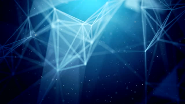 Blue Abstract Moving digital medical science plexus chain with glowing impulses research. For visuals, biology, biotechnology, chemistry, science, Medicine, cosmetics. Seamless Loop Animation Abstract polygonal Digital Concept Geometrical Polygon Plexus Fractals Moving low poly Technologies Minimalist design element Seamless loop background for corporate business presentation cybersecurity stock videos & royalty-free footage