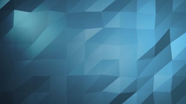 Bleue Surface polygonale abstraite en Animation 3d sans faille en 4k. Ultra HD - Vidéo