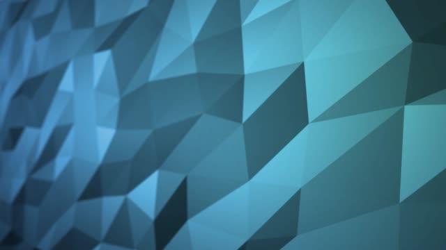 Bleue Surface polygonale abstraite en Animation 3d sans faille en 4k. Vue de côté - Vidéo