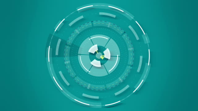 Blue abstract round animation, hi-tech background with circles. Futuristic Sci-Fi HUD effect. video