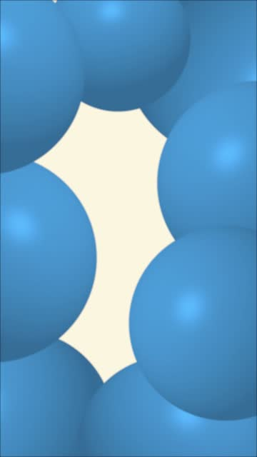 Blue Abstract Sphere Balloons or Balls Wiggle Funny Background Stock Video