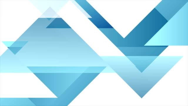 vídeos y material grabado en eventos de stock de animación geométrica azul tecnología abstracta - blue abstract background