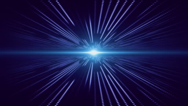 Blue abstract technology digital background perspective with light