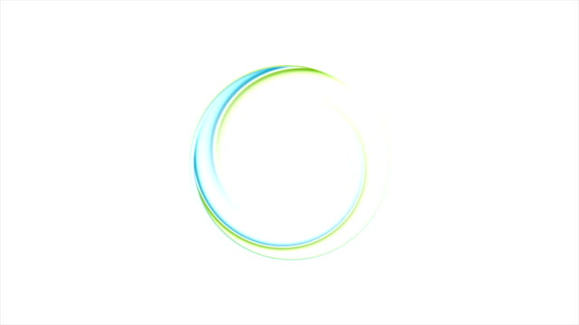 Blue and green abstract ring logo video animation