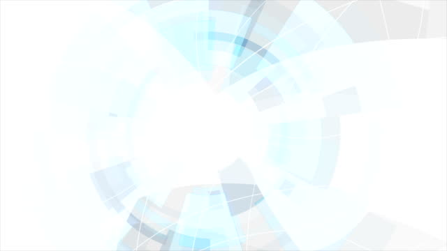 파란색과 회색 디지털 기술 미래 비디오 애니메이션 - 배경 초점 스톡 비디오 및 b-롤 화면
