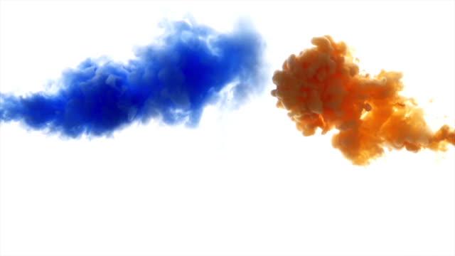 blått och orange färgade måla moln. - apelsin bildbanksvideor och videomaterial från bakom kulisserna