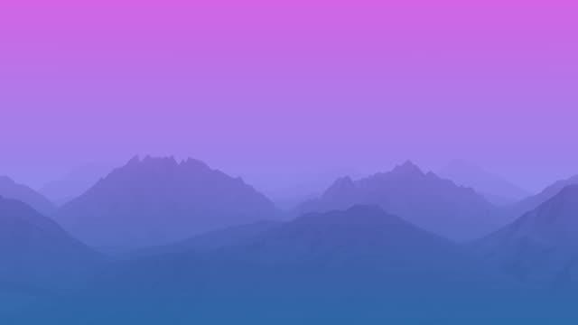 vídeos de stock e filmes b-roll de blue and pink geometric mountains - encosta
