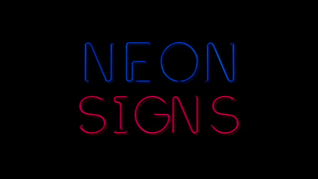 Blue and pink neon sign